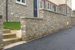 Medium Faced Flint Stone Wall